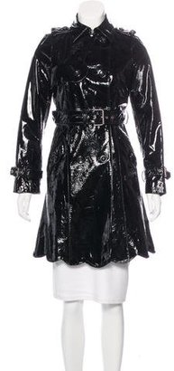 Red Valentino Patent Leather Trench Coat $275 thestylecure.com