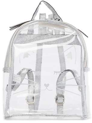 T-Shirt & Jeans Clear Cat Face Small Backpack