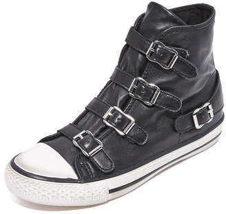 Ash Virgin Buckled High Top Sneakers $185 thestylecure.com