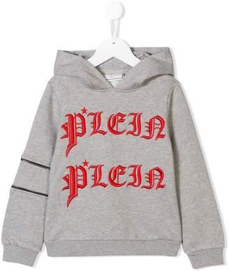 Philipp Plein Junior logo embroidered hoodie