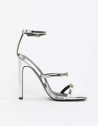 Barely There Asos Design ASOS DESIGN Haunted Heeled Sandals
