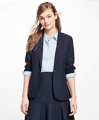 Stretch Wool One-Button Blazer $198 thestylecure.com