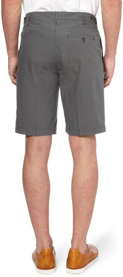 Rag and Bone Rag & bone Grey Printed Cotton Suit Shorts