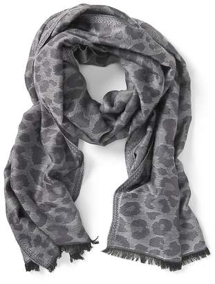 Banana Republic Shiny Leopard Print Rectangular Scarf