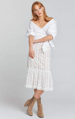 Show Me Your Mumu Warren Skirt Dress ~ Dainty Darling Crochet Lace