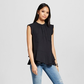 Mossimo Women's Button Front Peplum Top - Mossimo $22.99 thestylecure.com