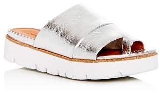 Kenneth Cole Gentle Souls by Gentle Souls Women's Lavern Leather Platform Slide Sandals