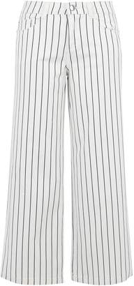 Dorothy Perkins Womens Stripe Print Crop Jeans