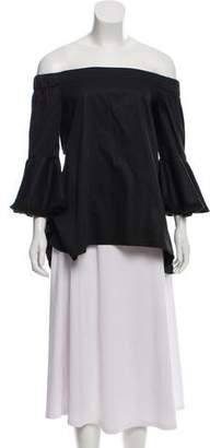 N. Nicholas Off-The-Shoulder High-Low Blouse
