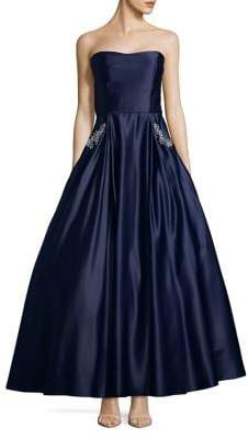 Blondie Nites Strapless Satiny Ball Gown