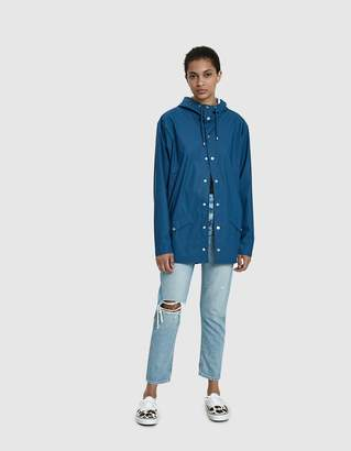 Rains Rain Jacket in Faded Blue