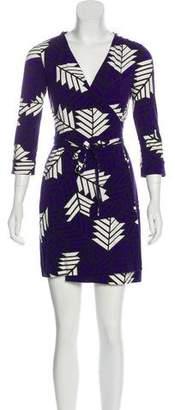 Diane von Furstenberg Mock Wrap Mini Dress