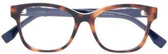 Fendi Eyewear tortoiseshell square frame glasses