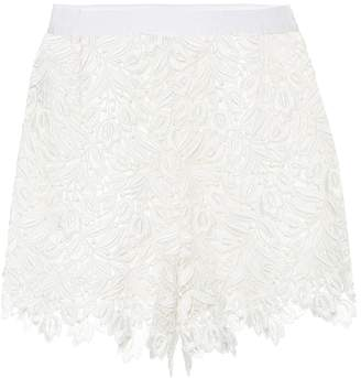 Giambattista Valli Lace high-waisted shorts