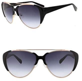8bfba8ab0d9b1 Oscar de la Renta Black Women s Sunglasses - ShopStyle