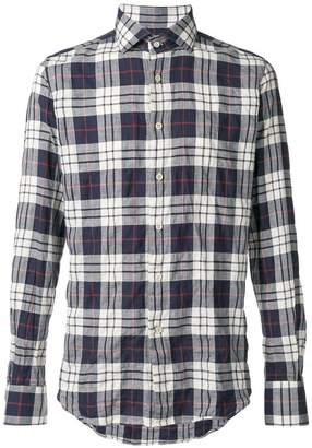 Glanshirt checked button shirt