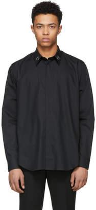 John Lawrence Sullivan Johnlawrencesullivan Black Collar Ring Button-Down Shirt