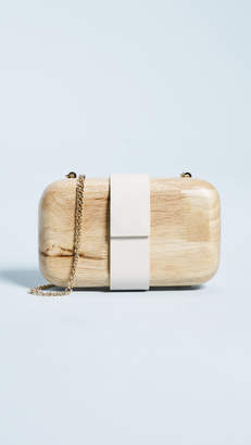 Inge Christopher Lucia Wooden Clutch