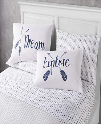 Sanders Dreams 6 Piece Full Size Microfiber Sheet Set With Novelty Pillowcases Bedding