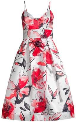 Parker Black Sana Floral Satin Sleeveless Dress