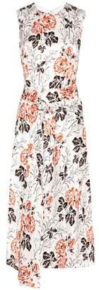 Victoria Beckham Belted silk-blend shift dress