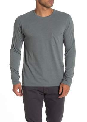 Save Khaki Heather Jersey Pocket Long Sleeve T-Shirt