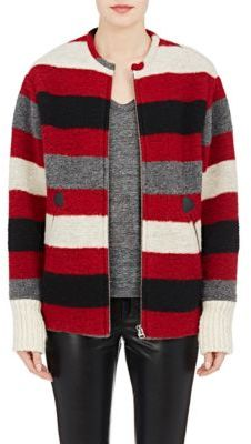 Isabel Marant Étoile Women's Striped Fimo Jacket-RED $480 thestylecure.com
