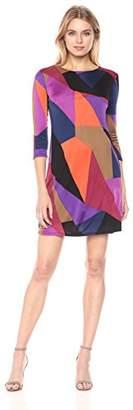 Trina Turk Women's Camellia Long Sleeve Printed Matte Jersey Dress