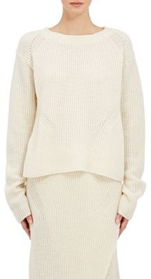 08sircus Women's Oversized Rib-Knit Sweater-IVORY $465 thestylecure.com