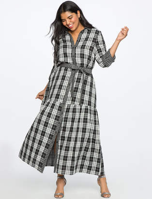 ELOQUII Plaid Maxi Dress