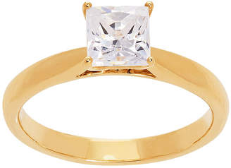 GROWN WITH LOVE Grown With Love Womens 1 CT. T.W. Lab Grown White Diamond 14K Gold Square Solitaire Ring
