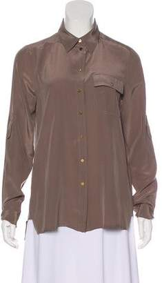 Marc by Marc Jacobs Silk Long Sleeve Top