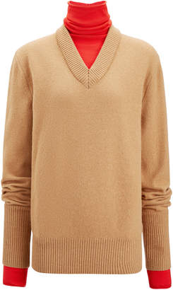 Joseph V + High Neck Double Knit