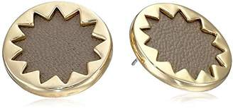 House Of Harlow Plated Sunburst Button Earrings