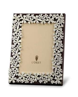 L'OBJET Platinum and Swarovski® Crystal Garland Picture Frame, 2 x 3