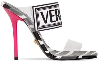 Versace 95MM LOGO PVC & RUBBER SANDALS
