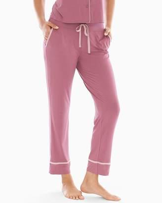 Mulberry Cool Nights Satin Trim Ankle Pajama Pants