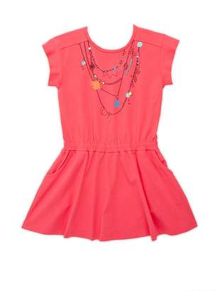 Catimini Little Girl's Graphic Front Cotton Dress