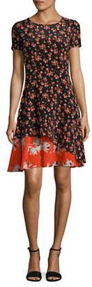 HUGO Kayna Silk A-Line Dress