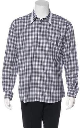 Givenchy 2016 Plaid Contrast Shirt