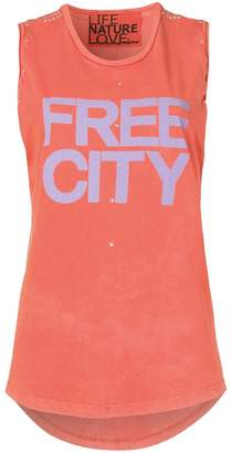 Freecity logo print tank top