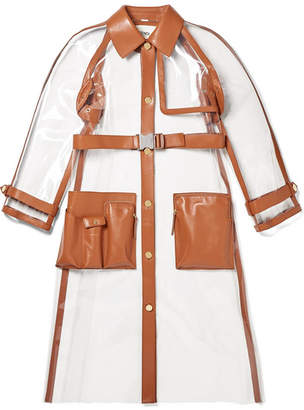 0ab3bba40f443 Fendi Leather-trimmed Pvc Trench Coat - Clear