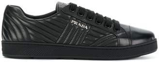 Prada bevelled low-top sneakers