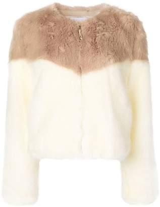 Dondup contrast fur jacket