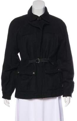 Bottega Veneta Wool Zip-Up Jacket