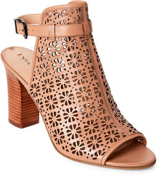 Via Spiga Blush Fleura Laser Cut Open Toe Sandals