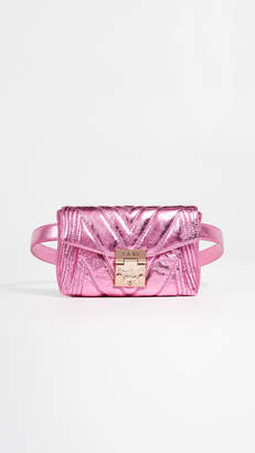 MCM Patricia Quilted Metallic Belt Bag
