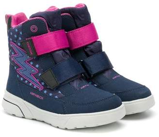 Geox Kids lightning patch tall boots