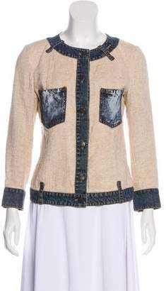 Dolce & Gabbana Denim-Trimmed Linen Jacket