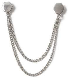 Topman Mens Metallic Hexagon Collar Tips*